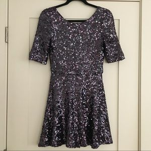 French Connection Purple Sequin Mini Dress